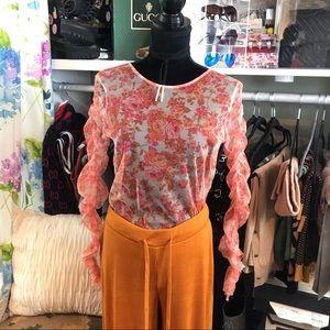 Zara Orange Wide Leg Knit Casual Pants NWT 🍊